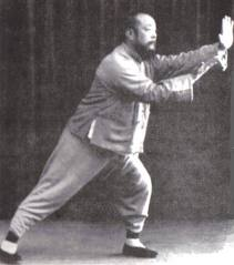 antique image of Wu Chien Chuan playing tai chi
